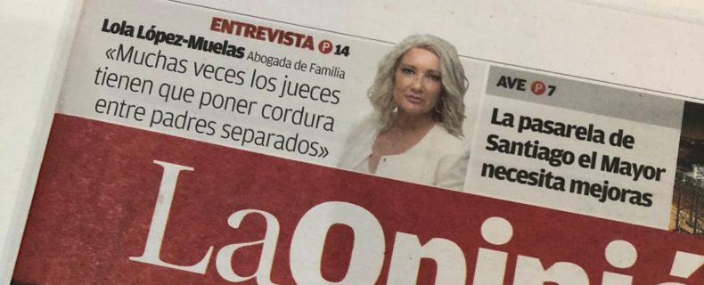 Entrevista a Lola Lopez-Muelas en La Opinión de Murcia